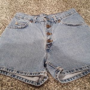 Vintage Levi's High Waisted Button Fly Jean Shorts